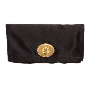 Coach Black Satin Amanda Clutch